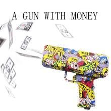 Pistola de dinero a la moda, juguete rosa para regalo de cumpleaños, juego de fiesta, cañón efectivo, pistola de dinero divertida, juguete de pistola de juguete, 1 Uds.