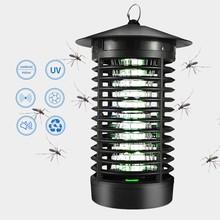 Enchufe de EE. UU. AC100V-240V LED luz Mosquito Killer Bug Insect Zapper trampa Catcher lámpara(China)
