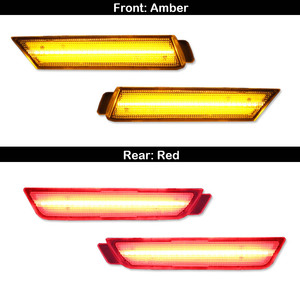 Image 4 - iJDM 12V Amber/Red Full Side Marker Lights For 2010 2015 Chevy Camaro, (Front: Amber, Rear: Red) Powered by Total of 96 SMD LED