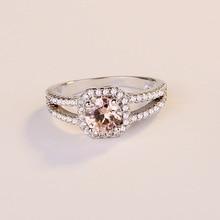 Round Ruby Diamond Anillos De Rings for Women Bague or Jaune Bizuteria Sapphire Rings Jewelry Amethyst Bague Etoile Bizuterias цена 2017