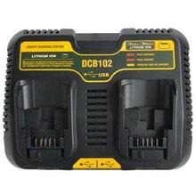Комплект принадлежностей для вращающихся инструментов Dcb102 двойной литий-ионный аккумулятор USB зарядное устройство для аккумулятора выход 5 V для Dewalt 10,8 V 12 V 14,4 V 18 V Dcb101 Dcb200 Dcb140 Dcb105 Dcb2