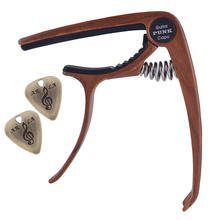 Acoustic Electric Guitar Clamp Ukulele Capo with 2pcs Picks Musical Instrument Parts 90×92×70mm guitar capo guitar accessories trigger capo with 6 free guitar picks for acoustic and electric guitars also ukulele and banjo