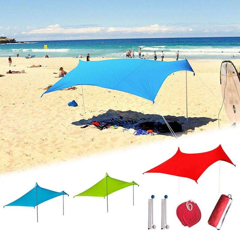 Family Beach Sunshade Beach Awnings Outdoor Family Large Portable For Beach Parks And Outdoor Awnings Good