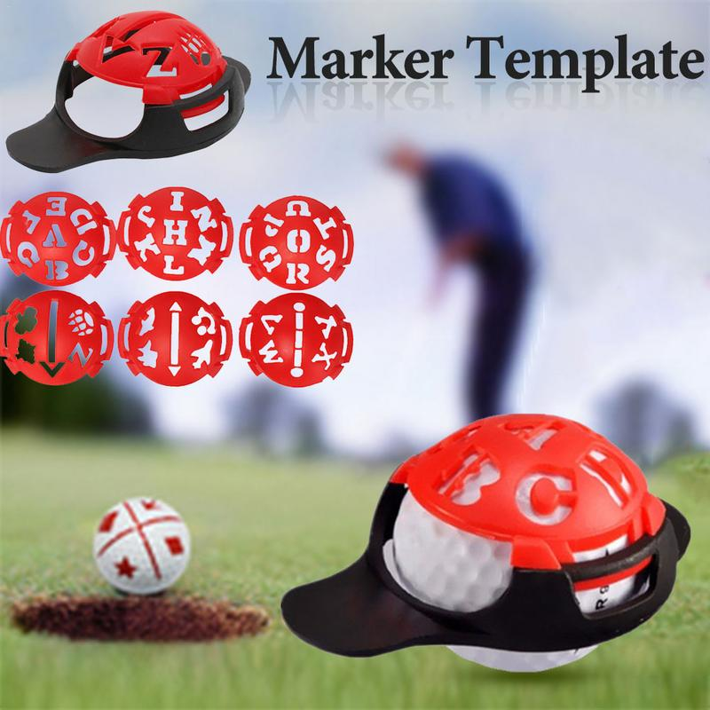 6 In 1 Golf Ball Line Liner Marker Templates Drawing Alignment Marks Sign Tool Red Golf Training Aids Golf Accessories