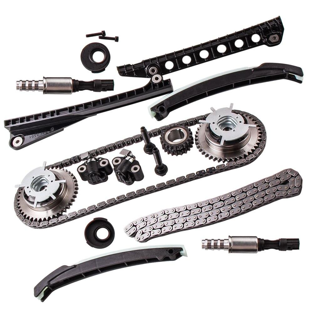 Комплект цепи синхронизации Cam Phasers соленоид клапан VVT набор для Ford Lincoln + уплотнение винт 3R2Z 6A257 DA