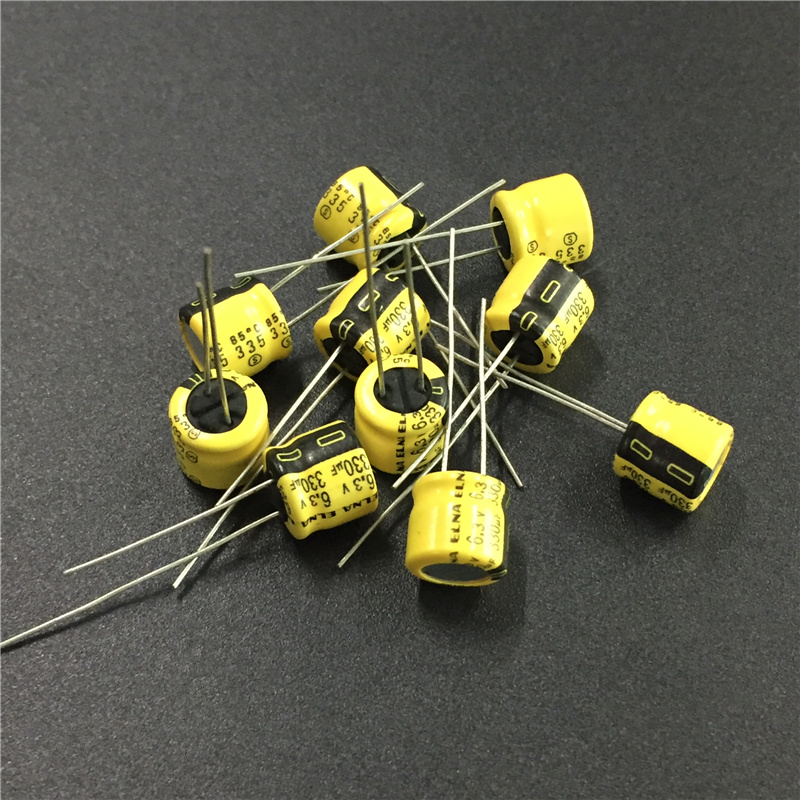 10Pcs/50Pcs 330uF 6.3V ELNA Yellow 8x5mm 6.3V330uF Low Profile  Audio Capacitor