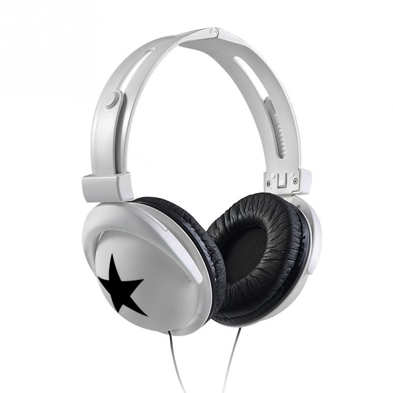 Fashion star pattern Mega Bass headphone soft pad 3.5mm headset Earphone for phone/pc/MP3/laptop game movie/music 024