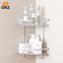 ORZ Kitchen Bathroom Storage Corner Shelf Bath Shower Organizer Household Items Accessories Holder Rack