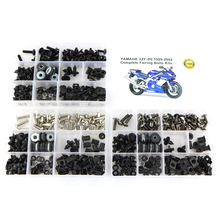 цены For Yamaha R6 Motorcycle Complete Full Fairing Bolts Kit Washer Fastener Bodywork Clips Steel YZF R6 YZF-R6 1999-2002 Black