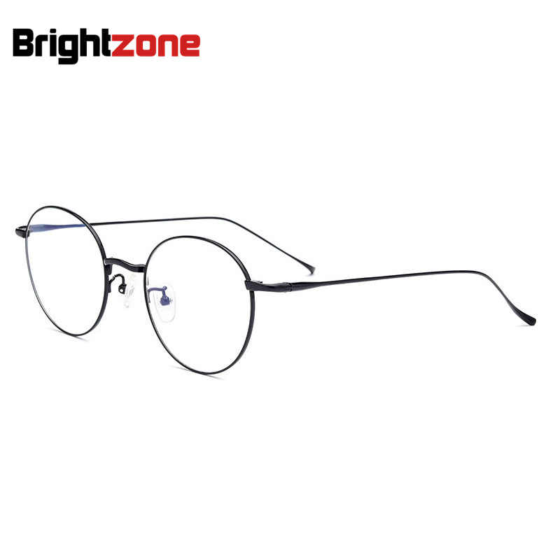 ca0b9f6f2ca2 Ebay Shopify Drop Shop Pure Titanium Spectacle Round Eye Glasses Frames For  Men Oculos De Grau