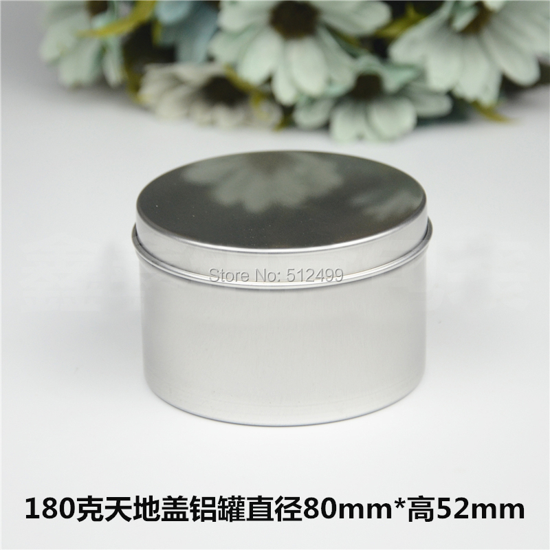 180g 50pcs/lot Refillable empty round aluminum tin cans bottle Direct pressure aluminum cans cosmetic container box aluminum jar