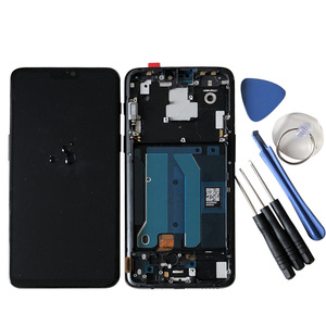 "Image 5 - 6.28""Original Super Amoled M&Sen For OnePlus 6 Oneplus 6 One Plus 6 LCD Display Screen+Touch Panel Digitizer Frame Replacement"