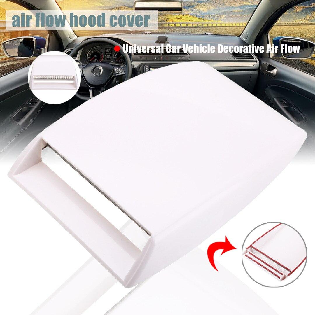 Universal Black Car Decorative Air Flow Intake Hood Bonnet Vent Cover Sticker