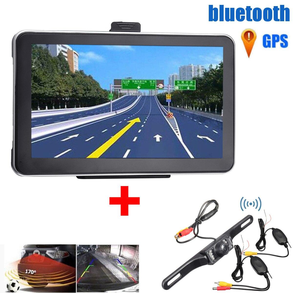 7 pouces 8 GB sans fil voiture GPS Navigation avec nuit de sauvegarde caméra de recul Auto voiture Kit électronique véhicule GPS Kit de Navigation