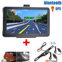 7inch 8GB Wireless Car GPS Navigation With Night Backup Rear View Camera Auto Car Electronic Kit Vehicle GPS Navigation Kit