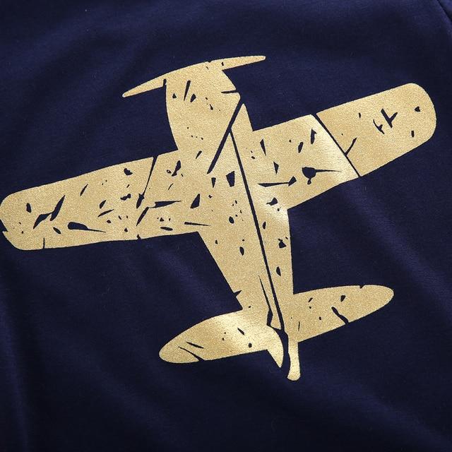 2019 Nuovo Cotone Vestiti Del Bambino Nato Aereo di Stampa della Maglietta Blu Aereo Pianura Magliette Magliette e camicette Vestiti Dei Ragazzi Manica Corta T-Shirt Dei Ragazzi 5