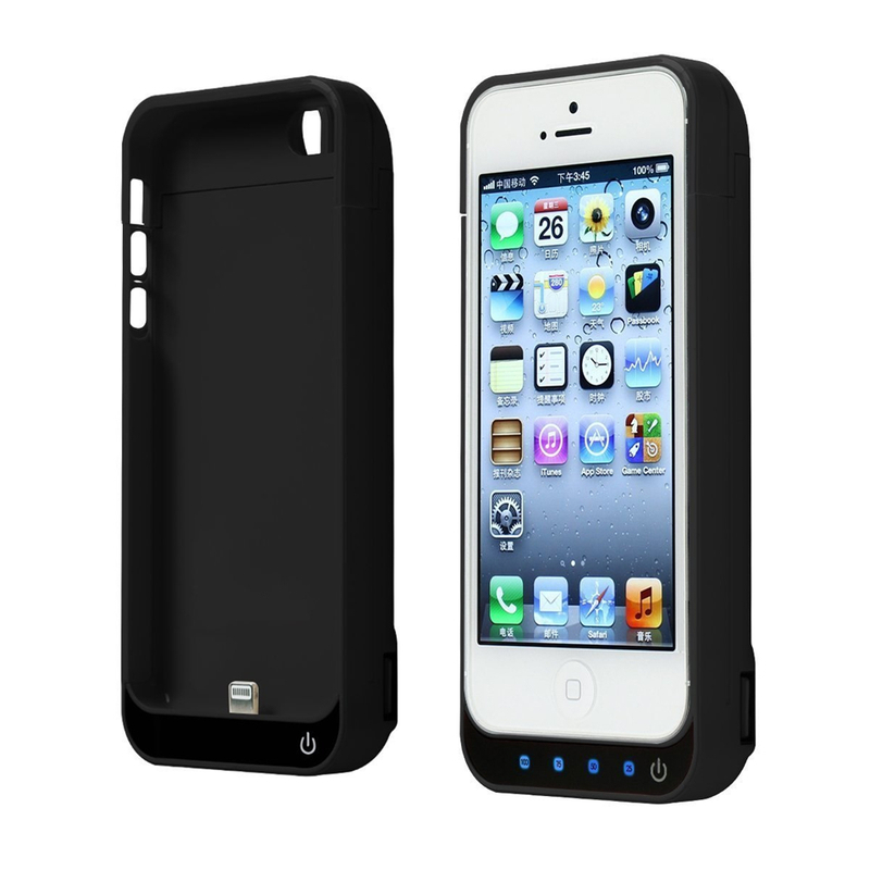<font><b>Battery</b></font> Charger <font><b>Case</b></font> 4200mah Rechargeable With Stand External <font><b>Battery</b></font> Pack Babk Backup Chargering <font><b>Case</b></font> For <font><b>Iphone</b></font> <font><b>5</b></font>/5c/5s/SE image