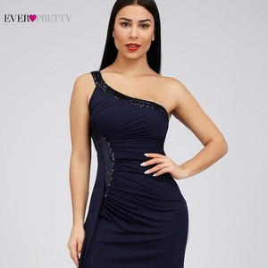 Image 5 - Bodycon High Split Evening Dresses Ever Pretty Sequined One Shoulder Mermaid Elegant Women Long Party Gowns Robe Soiree 2020