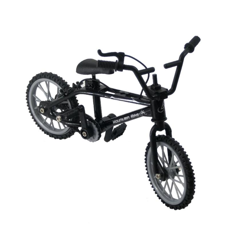 1pcs Black Finger Bike Plastic Mini Finger BMX Functional Bicycle Assembly Bike Model Novelty Toys Gadgets Kids Birthday Gifts