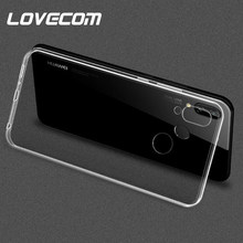 LOVECOM Classical Hot Transparent Ultra-thin Soft TPU Phone Case For Huawei Honor 8 9 P20 Pro Lite Y5 Y7 Y9 2018 2019 NOVA 2 3(China)