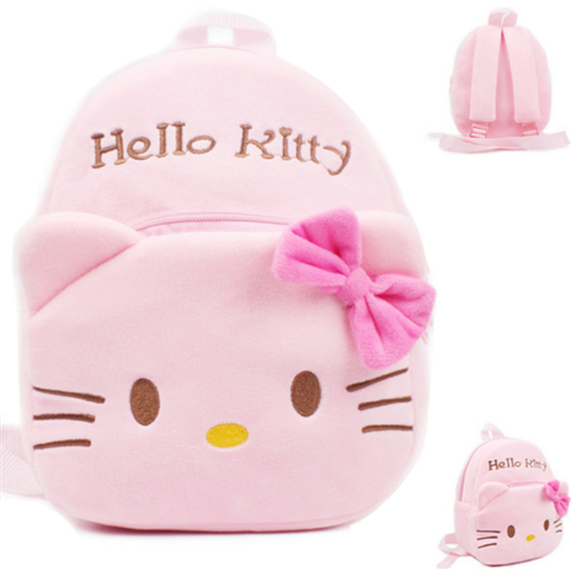 2019 Hello Kitty Toddler Kids Children Boy Girl Cartoon Stuffed Plush Backpack Schoolbag Shoulder Bag Rucksack Baby Boys Girls