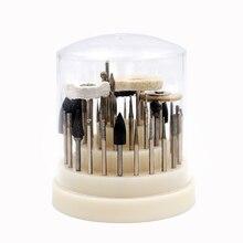 41 teile/satz Dental Lab Silikon Gummi Dreh Wolfram Stahl Polieren Bohrer 2,35mm Zähne Bleaching Zahnarzt Ausrüstung Mit Box
