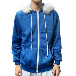 Image 4 - Kid Sans Cosplay Blue Hoodies Coat Unisex Jacket Halloween Cosplay Costumes Hooded Sweater Undertale COOL SKELETON Cosplay