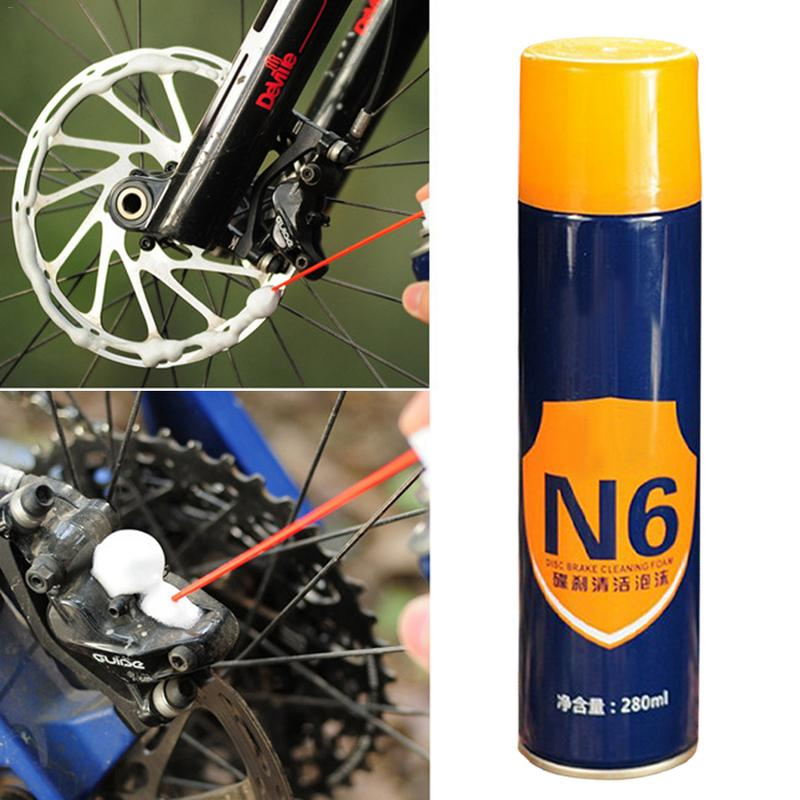 Car Accessories Bicycle Motorcycle Disc Brake Cleaning Foam Rattle Disc Brake Pad Cleaner Oil Removal Maintenance No Residual