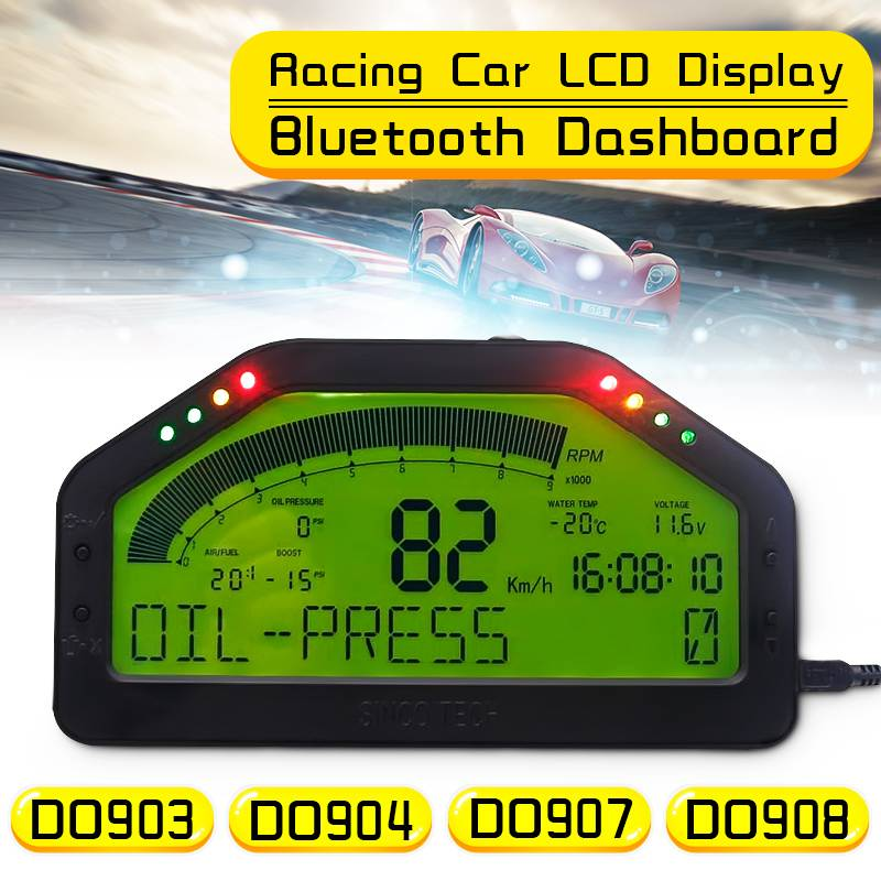 Waterproof Dash Race Display Full Sensor Kit LCD Screen OBD Bluetooh Connection Universal DashBoard DO903 DO904