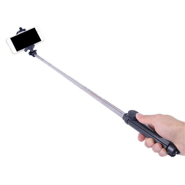 Mini Selfie Stick Extendable Handheld Fold Self portrait Bluetooth Holder Lightweight Travel Hiking Devices With Tripod Mount