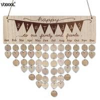 DIY деревянный календарь круглый любовь таблички календарь специальная Дата День рождения настенный знак напоминание расписание планировщ...