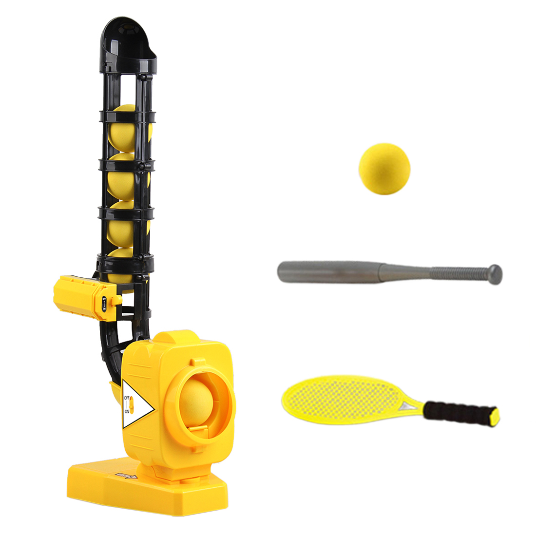 2-in-1 Outdoor Sports Baseball Automatic Ball Machine Pitching Machine Practice Tennis Batting Ball Pitcher For Children