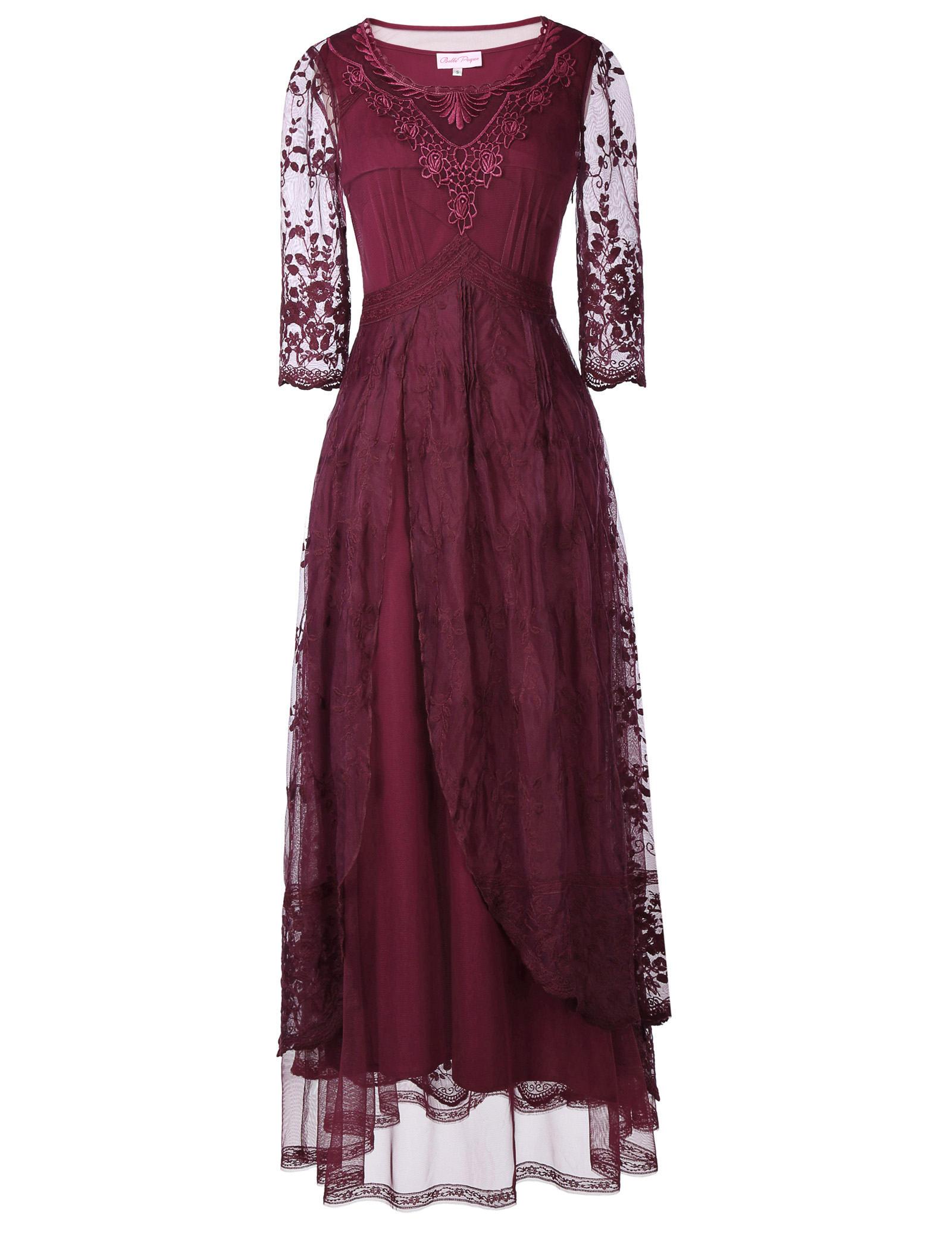 Belle Poque Womens Retro Victorian 60s Long Maxi Prom Evening Party Dress
