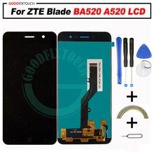 ЖК-дисплей и сенсорный дигитайзер в сборе качества AAA для ZTE Blade BA520 A520 A521