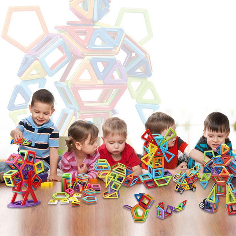 Pure pièce magnétique variété blocs de construction aimant assemblé enfants enfants jouets éducatifs 109 pièces