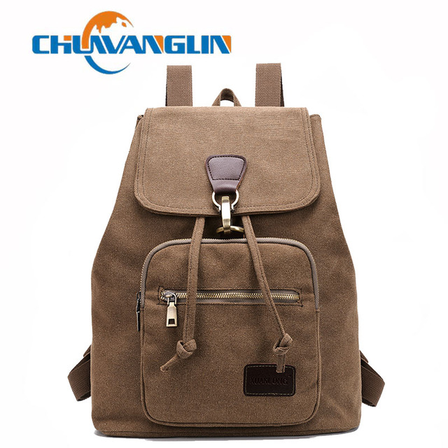 Chuwanglin New canvas backpack for women vintage woman's school backpacks Wild casual travel bags Daily backpacks A1108