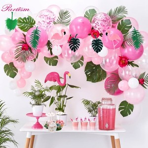 1set Flamingo Party Paper Umbrella Drink Picks Pineapple Cake Toppers For Birthday Decorations Summer Hawaiian Party Supplies(China)