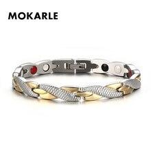 Популярный магнитный браслет для похудения модные украшения для мужчин и женщин звено цепи вес потери браслет здоровое Похудение Продукты