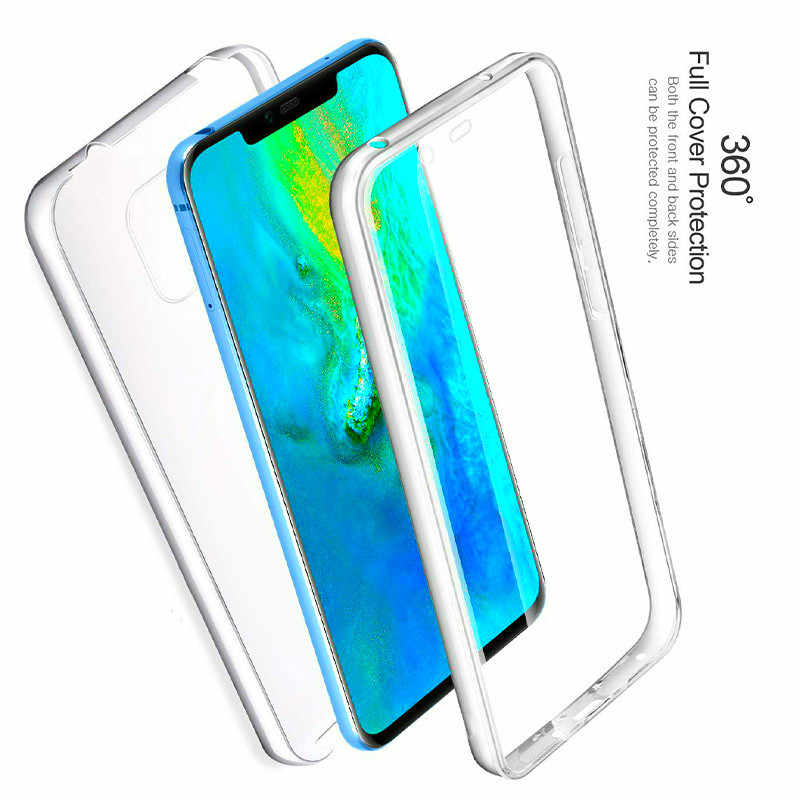 360 Degree Full Body Case For Huawei P Smart 2019 P8 P9 P10 P20 Lite Pro Mate20Lite Transparent Silicone Thin Gel TPU Soft Cover