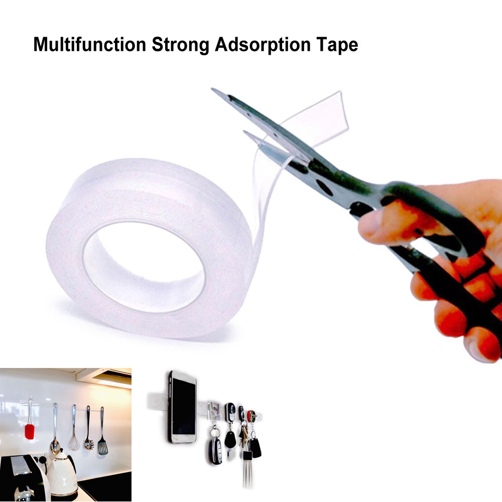 1 / 3 / 5 Meters Resuable Grip Tape Waterproof Multifunction Strong Adsorption Seamless Tape Kitchen Holder Heat Resistant Tapes1 / 3 / 5 Meters Resuable Grip Tape Waterproof Multifunction Strong Adsorption Seamless Tape Kitchen Holder Heat Resistant Tapes