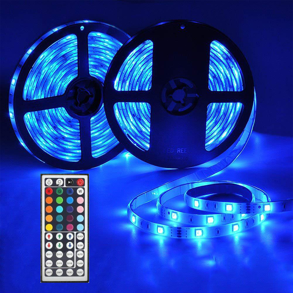 Contemplative 5050 Rgb Led Soft Light Strip Ribbon Tape Lamp Remote Wireless Controller Not Waterproof Dc12v Lights Led Strips Kit With Power Soft And Antislippery Smart Electronics Consumer Electronics