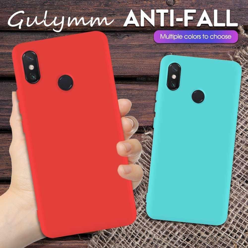 Карамельный цвет телефонные чехлы для Xiaomi Redmi Note 7 Pro Глобальный чехол силиконовый мягкий матовый для Redmi Fundas Coque