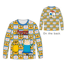 Hot Anime Adventure Time with Finn and Jake  Tops Unisex Cosplay dress Long sleeve T shirt Tees t