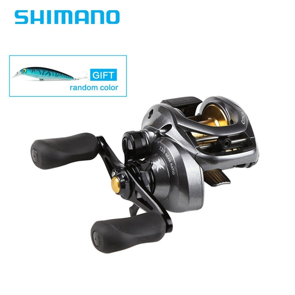 Newest Shimano Original Citica 200HG 201HG RIGHT HANDLE LEFT HANDLE Casting Reel Low Profile Fishing Reel Bait Casting