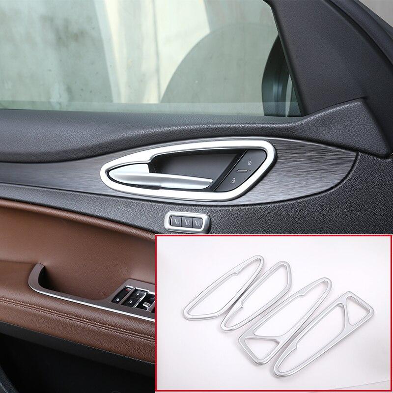 ABS Carbon Fiber Outer Door Handle Cover Trim For Alfa Romeo Stelvio 2017-2018