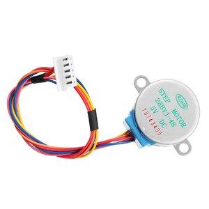 Image 3 - 5Pcs 5V Stappenmotor Met ULN2003 Driver Board Dupont Kabel Voor Arduino Reduction Step Motor Gear Stappenmotor 4 Fase