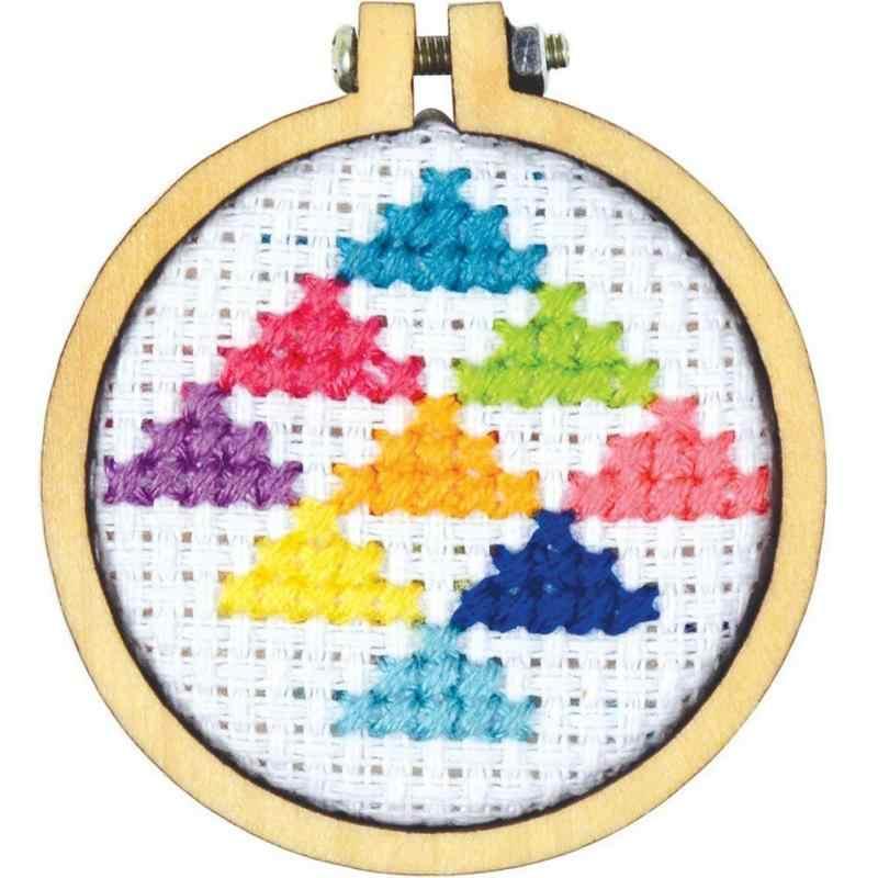Mini/ไม้ขนาดใหญ่ Cross Stitch Hoop แหวนเย็บปักถักร้อยวงกลมจักรเย็บผ้าชุดชุดหัตถกรรมไม้ 2 ชิปสกรู 2 สกรู #1029
