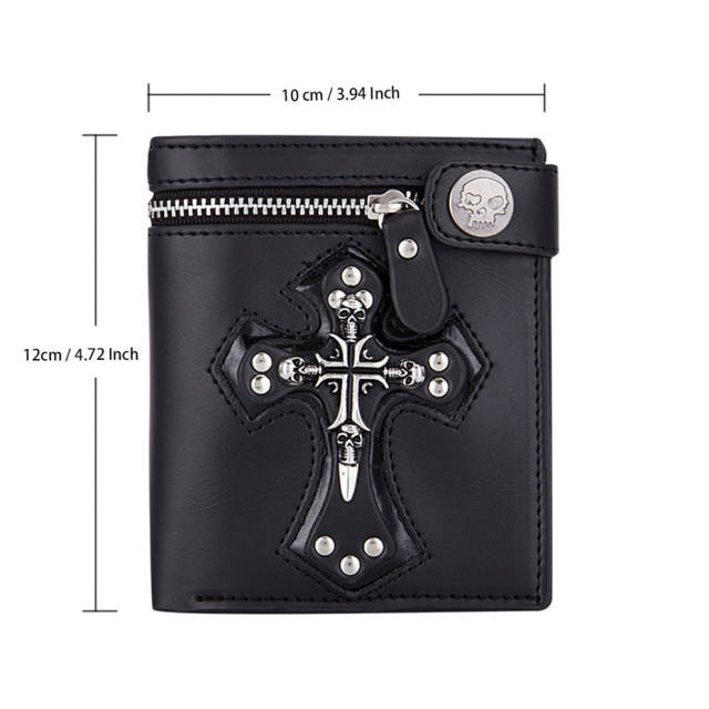 SET LEATHER WALLET + SKULL WATCHES (2 VARIAN)