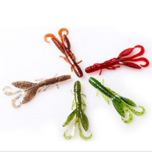 12PCS 50mm 6 Color Shrimp Soft Baits Fishing For Carp Artificial Silicone Outdoor Adult Toys Colorful Fish Toy