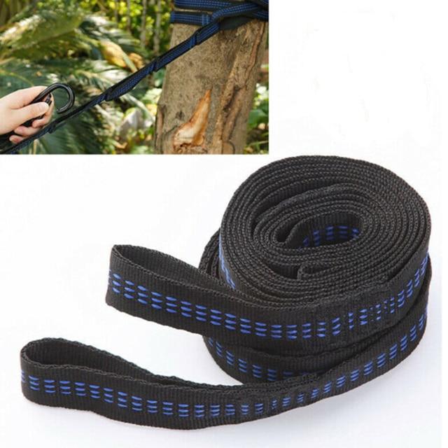 2 pcs/set straps 2 X 200cm Outdoor Adjustable Tree Hanging Aerial Yoga Hammock Straps Rope Belt high strength polypropylene